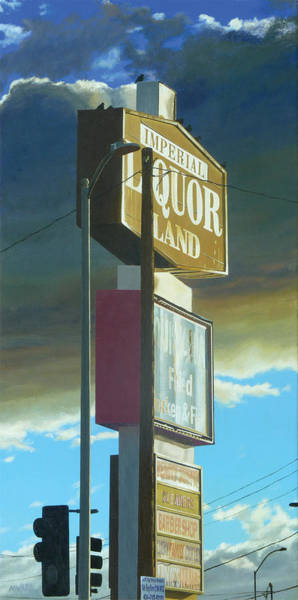Traffic Signals Painting - Imperial Liquor Land by Michael Ward