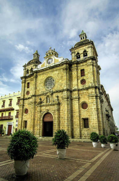 Cartagena Photograph - Imposing Church Of San Pedro Claver by Jerry Ginsberg