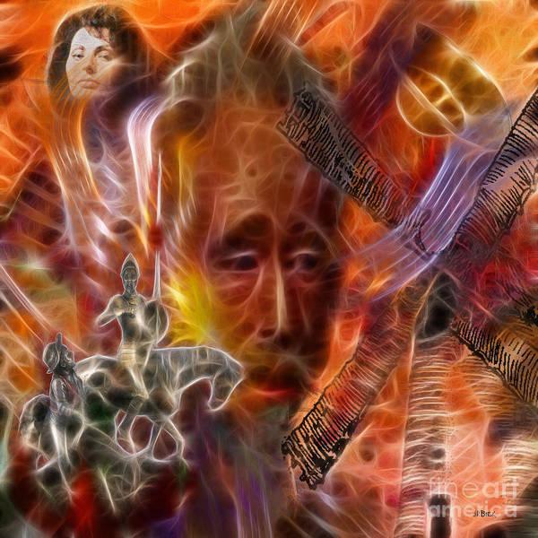 Man Of La Mancha Wall Art - Digital Art - Impossible Dream - Square by John Beck