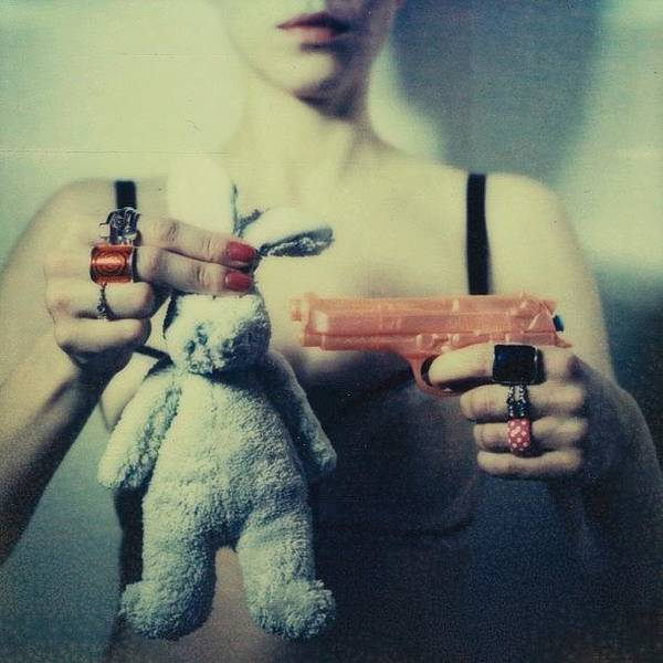 Toy Gun Photograph - Bunny by Marko Mastosaari