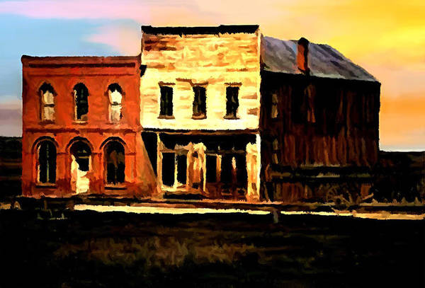 Digital Art - Impression Of Sunrise Bodie California  by Bob and Nadine Johnston