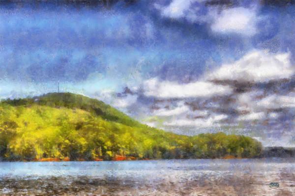 Digital Art - Impressionist Allatoona by Daniel Eskridge