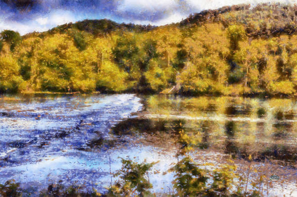 Digital Art - Impressionist Etowah River by Daniel Eskridge