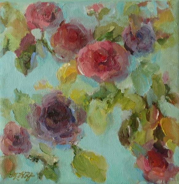 Painting - Impressionist Floral  by Mary Wolf