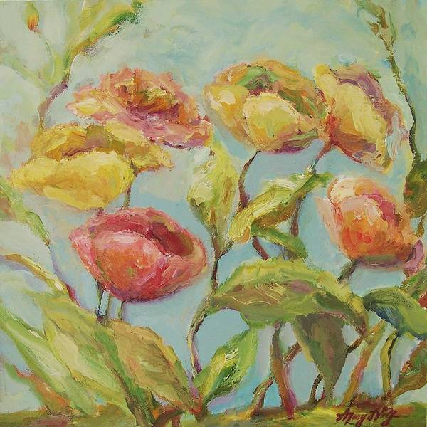 Painting - Impressionist Floral Painting by Mary Wolf