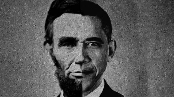 Impressionist Interpretation Of Lincoln Becoming Obama Art Print