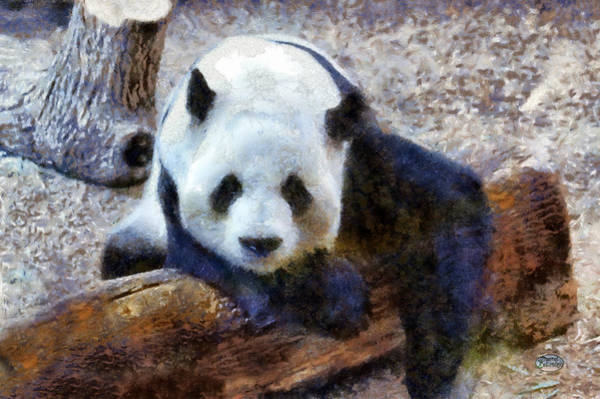 Digital Art - Impressionist Panda by Daniel Eskridge