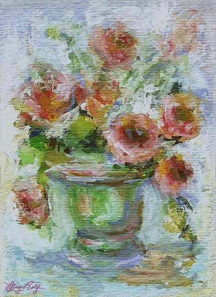 Painting - Impressionist Roses 2 by Mary Wolf