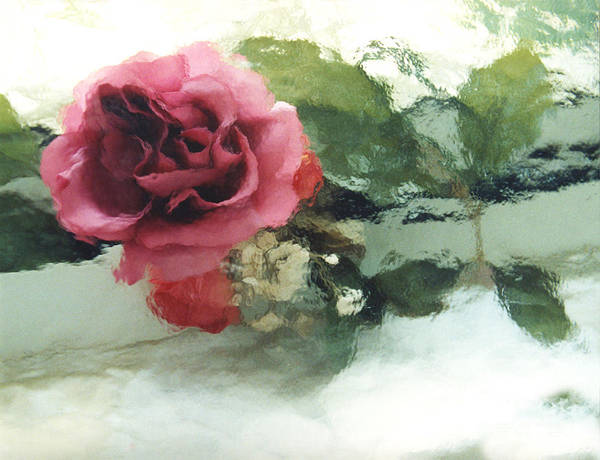 Impressionistic Photograph - Impressionistic Watercolor Roses, Romantic Watercolor Pink Rose  by Kathy Fornal