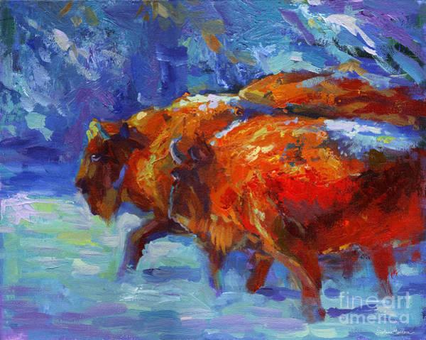 Painting - Impressionistic Buffalo Painting by Svetlana Novikova