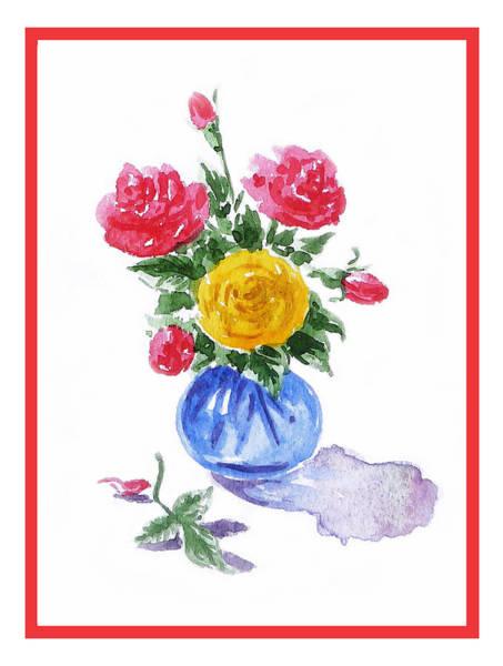 Red Rose Painting - Impressionistic Roses by Irina Sztukowski