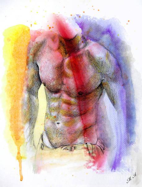 Male Nude Digital Art - Impressive  by Mark Ashkenazi