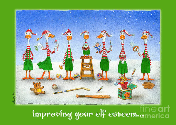 Elf Wall Art - Painting - improving your elf esteem...by Will Bullas by Will Bullas