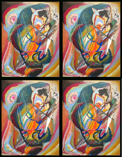 Painting - Improvisation IIi Collage by Wassily Kandinsky