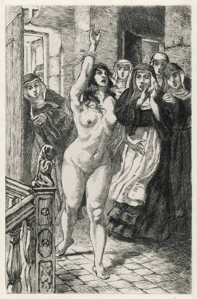 Demonic Drawing - In 17th Century France, A  Hysterical by Mary Evans Picture Library