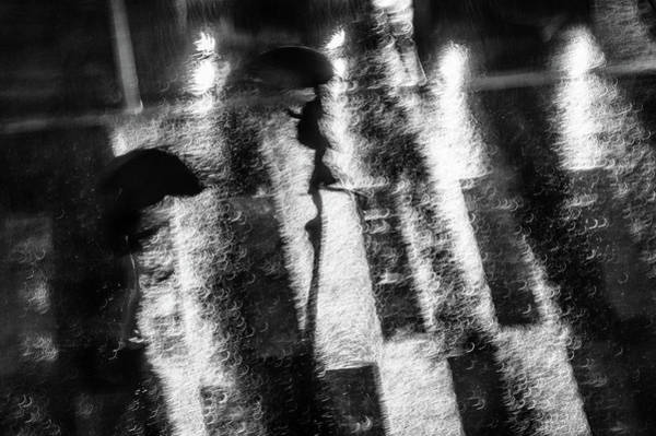 Rainy Photograph - In A Hurry by Donghee, Han
