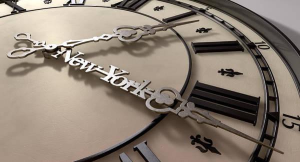 Fleur Digital Art - In A New York Minute Clock by Allan Swart