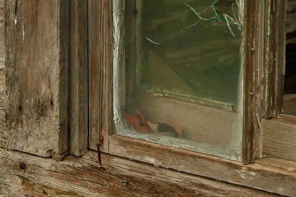 Broken Glass Digital Art - In A Window Pane by Linda Unger