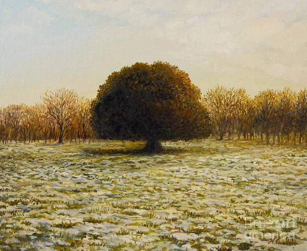 Wall Art - Painting - In Anticipation Of The Spring by Kiril Stanchev