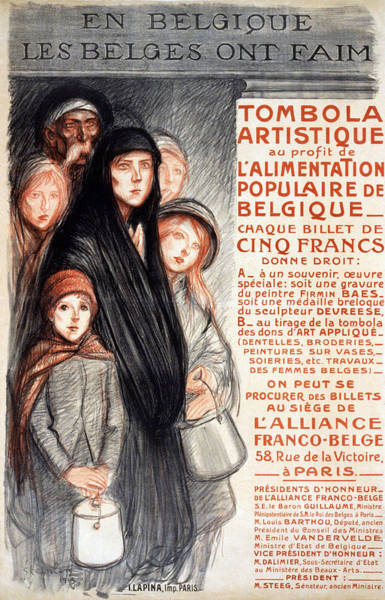 Propaganda Drawing - In Belgium The Belgians Are Hungry, 1915 by Theophile Alexandre Steinlen
