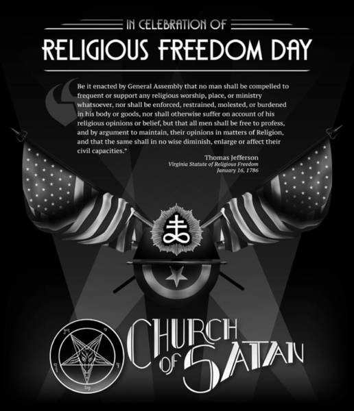 Satanism Digital Art - In Celebration Of Religious Freedom Day by Church of Satan