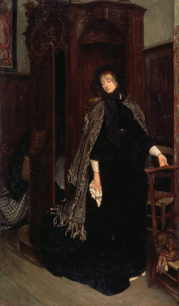 Painting - In Church, 1865 by James Jacques Joseph Tissot