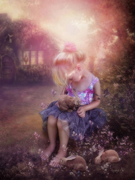 Rabbit Photograph - In Fairy Tales by Cindy Grundsten