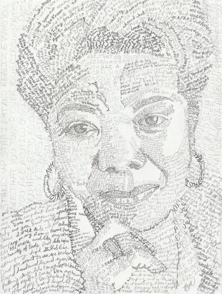 Oprah Wall Art - Painting - In Her Own Words Maya Angelou by Beverly Marshall