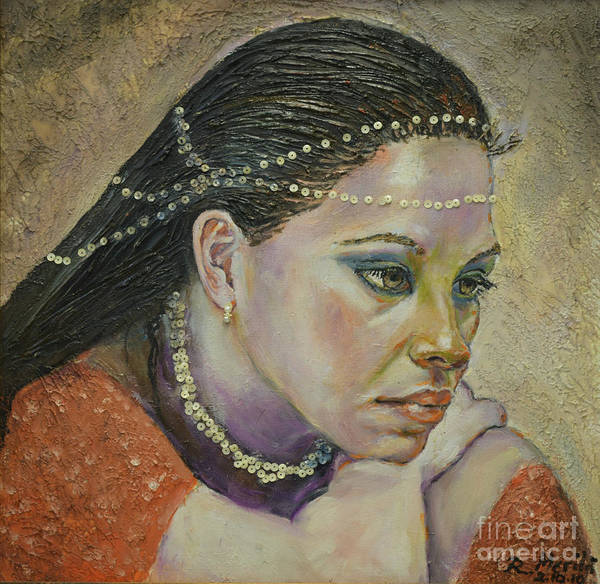 Painting - In Her Thoughts by Raija Merila