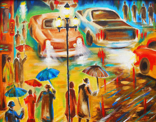 Susi Wall Art - Painting - In Italy Even Rain Is Beautiful by Susi Franco