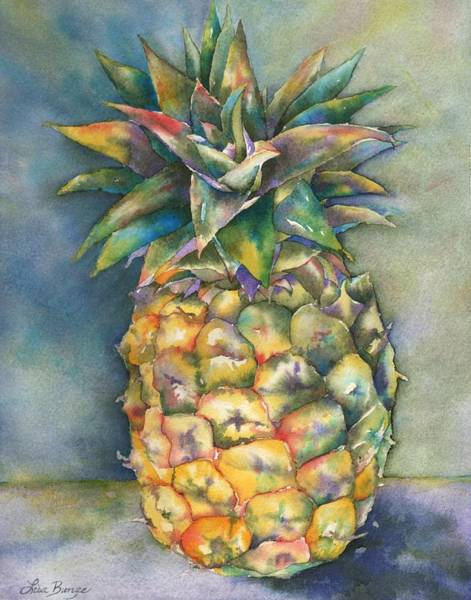 Pineapple Painting - In Living Color by Lisa Bunge