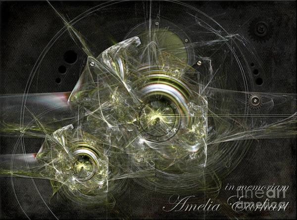 Painting - In Memoriam Amelia Earhart by Alexa Szlavics