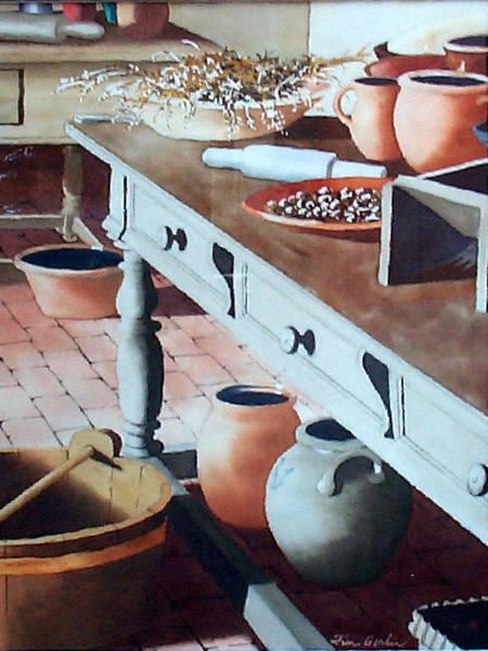 Monticello Painting - In Mr. Jefferson's Kitchen by Jim Gerkin