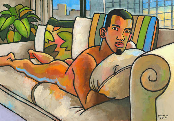 Naked Man Painting - In My Apartment by Douglas Simonson