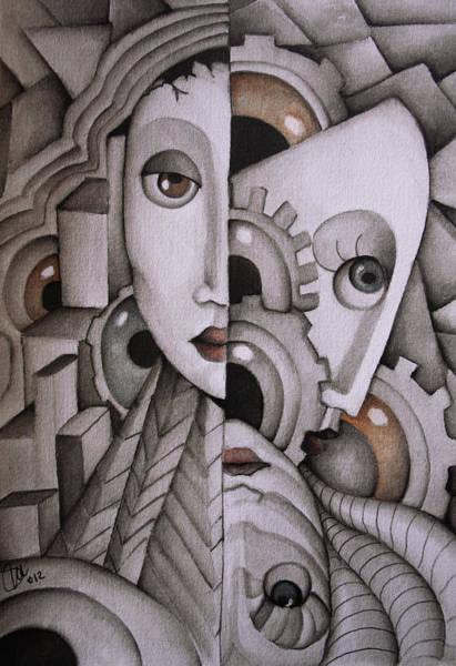 Eyeballs Painting - In My Mind by Simona  Mereu