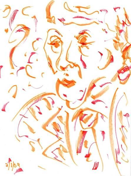 Drawing - In Orange by Rachel Scott