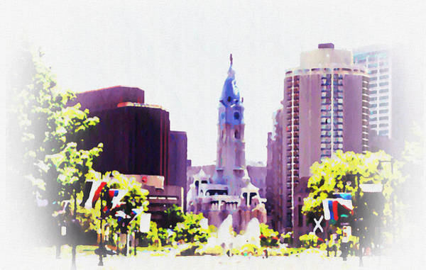Cityhall Photograph - In Philadelphia by Bill Cannon