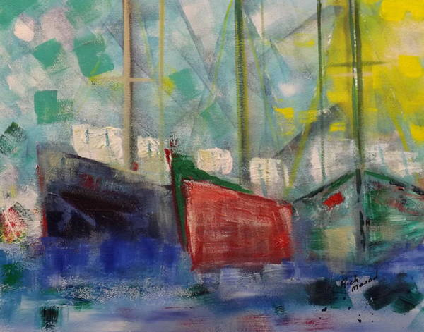 Wall Art - Painting - In Port by Rich Mason