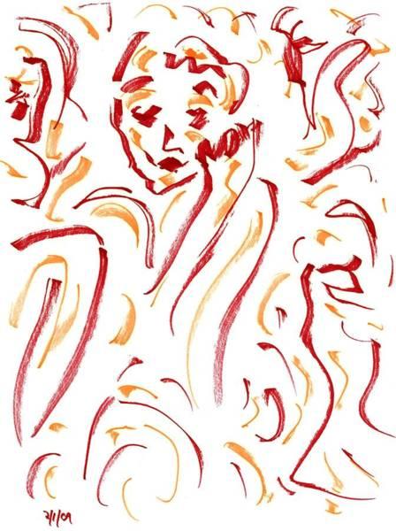 Drawing - In Red by Rachel Scott