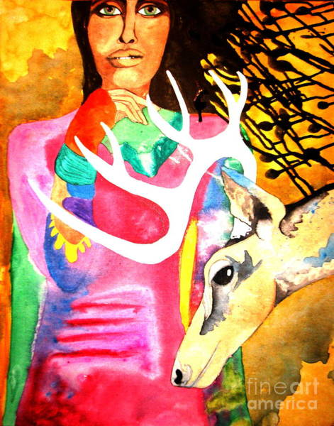 Black Buck Painting - In Spirit by Amy Sorrell