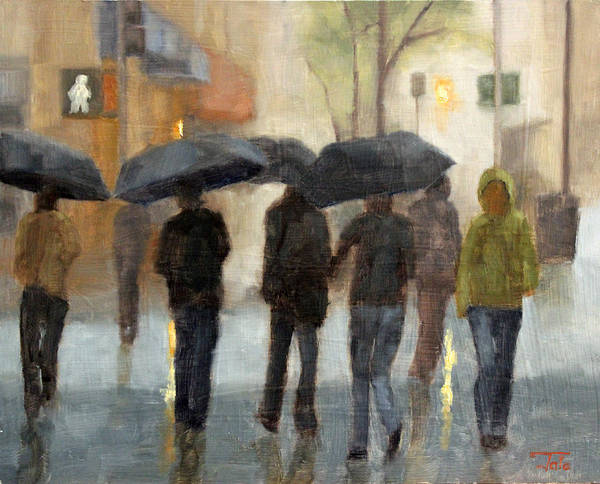 Wall Art - Painting - In Spite Of Rain by Tate Hamilton