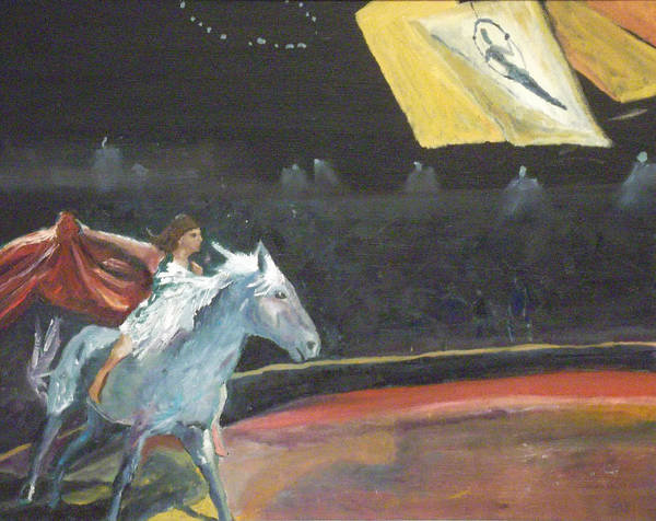 Trapeze Painting - In Synch by Susan  Esbensen