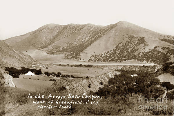 Photograph - In The Arroyo Seco Canyon West Of Greenfield Calif Circa 1930 by California Views Archives Mr Pat Hathaway Archives