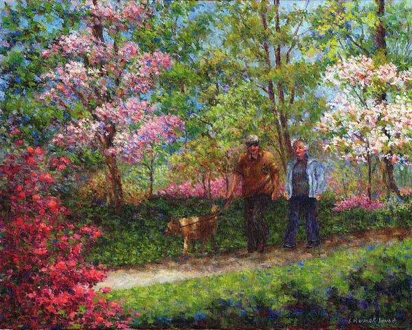 Painting - In The Azalea Garden by Susan Savad