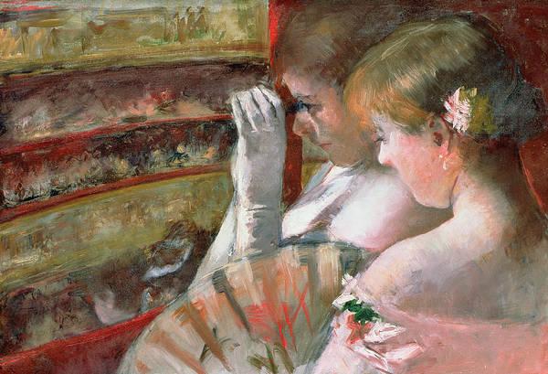 Cassatt Painting - In The Box by Mary Stevenson Cassatt