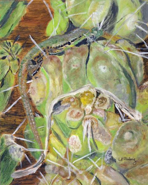 Painting - In The Cactus Garden by Linda Feinberg