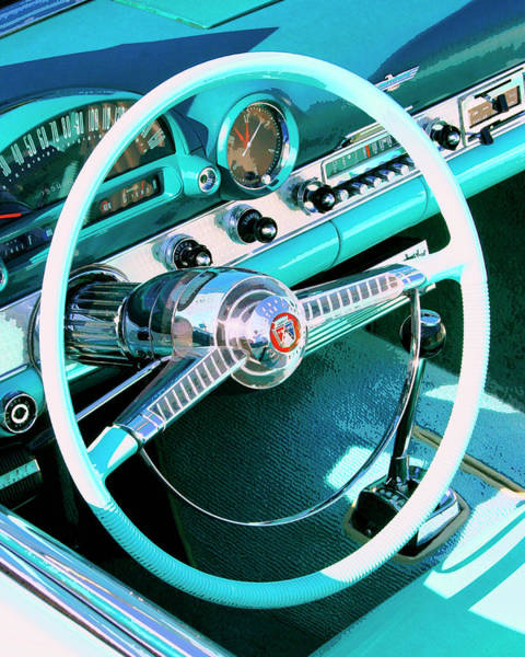 Car Part Photograph - Steering North Palm Springs by William Dey