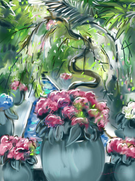 Painting - In The Conservatory by Jean Pacheco Ravinski