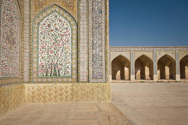 Calligraphy Photograph - In The Courtyard Of Vakil Mosque In by Jean-philippe Tournut