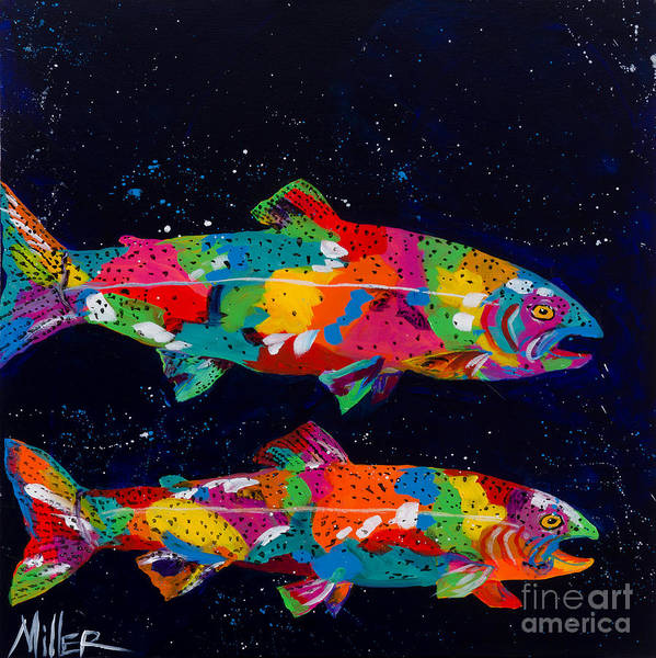 Angler Art Painting - In The Depths by Tracy Miller